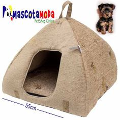 Cama piramide para perros miniatura