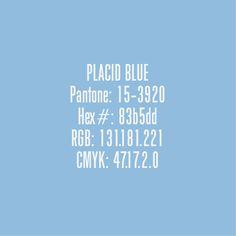 Placid Blue - Pantone Colours