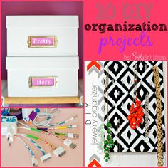 10 DIY Organization Projects {The Weekly Round UP} - This Silly Girl's Life