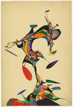 Robert KLIPPEL, not titled [Multicoloured abstract design].