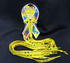 Autism awareness shoeslaces!! For our run/walks for Autism!!!