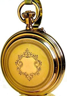 Classic Design And Meticulous Precision In An Antique Solid Gold Chronograph Pocket Watch By The Renowned Swiss Manufacturer Patek Philippe The case, a magnificent original beautifully engine turn Gold Pocket Watch, Pocket Watch Antique, Cool Watches, Watches For Men, Antique Jewelry, Vintage Jewelry, Art Deco Movement, Patek Phillippe, Fashion Watches