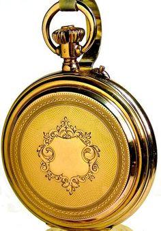 Antique Patek Phillippe 18K Gold Chronograph Pocket Watch 25 Jewels 18 Size Circa 1887