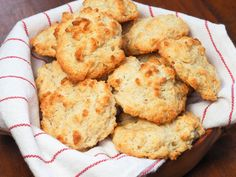 "Fannie Farmer of the famed Boston School of Cooking, called drop biscuits ""Emergency Biscuits,"" which is appropriate considering that all you need to make them is 25 minutes and five basic ingredients. Not only are these quick to make, but they're also super fluffy and tender."