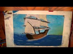 great video to watch colors blended Chalkboard Drawings, Chalk Drawings, Children Painting, Painting For Kids, Ocean Drawing, Painting & Drawing, Chalk Pastels, Color Blending, Chalk Board