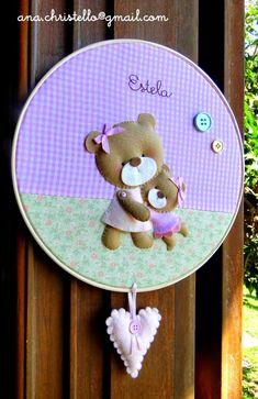 : Porta de maternidade ursinhas - bastidor