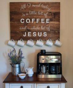 Exceptional DIY Coffee Bar Ideas