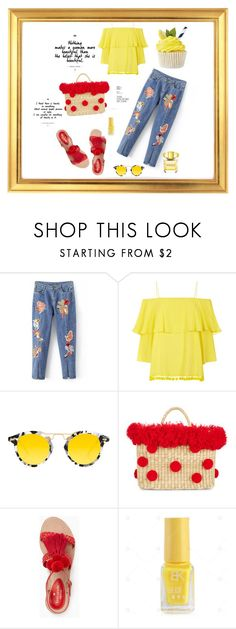 """""""Untitled #73"""" by femina-mode ❤ liked on Polyvore featuring Alice + Olivia, Krewe, Nannacay, Kate Spade and Versace"""
