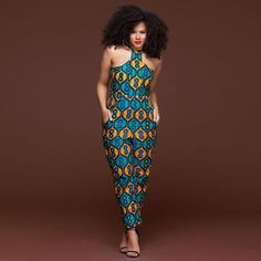 a25b0b92d59 African Indie Folk Sleeveless Long Pants Rompers Bodysuits
