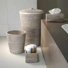 Buy Decor Walther Basket WB Laundry Basket - Round with Cloth Bag - Light Rattan Diy Bathroom Paint, Bathroom Sets, Bathroom Storage, Zen Bathroom Decor, Bathroom Accents, Bathrooms, Home Decor Baskets, Basket Decoration, Rattan