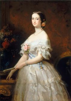 1846. Eugénie de Montijo, Empress of the French by Edouard Dubufe