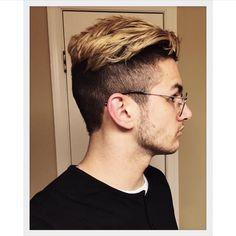 Mens dyed hair