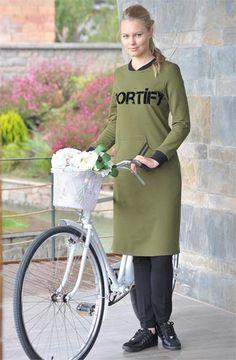 Sportify Eşofman Tunik 15044 Yeşil
