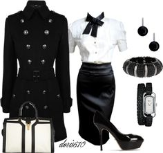 """""""Black and White"""" by doris610 on Polyvore"""