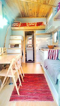 We love seeing unusual designs, patterns, and storage ideas, all of which this tiny house made by Sustainable Arbor Works displays. Part of the allure of a tiny house comes from the ability to create something unique, a true expression of personality and principles, both of which this design succeeds in doing. The first thing you notice is the exterior, with its juxtapositionof color, ...
