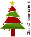 Google Image Result for http://images.clipartof.com/thumbnails/434615-Royalty-Free-RF-Clipart-Illustration-Of-A-Red-And-Green-Wrapping-Paper-Christmas-Tree.jpg