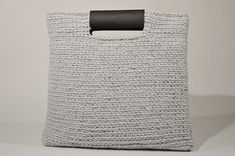 Crochet Grey Square Tote Bag With Faux Leather Details, Women Minimalist Tote Bag, Handmade Cotton Carry All Bag, Gift For Friend Carry All Bag, Human Trafficking, City Style, Knit Or Crochet, One Pic, Gifts For Friends, Minimalist, Tote Bag, Trending Outfits