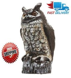8 Best Gardeneer Horned Owl Decoy Scarecrow Fake Statue Garden