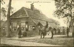 Boerderij Nieuw-Groevenbeek begin 20ste eeuw. Brandde in 1915 helemaal af en werd weer herbouwd.Op het paard Jacob Geurts, een bewoner van de boerderij.