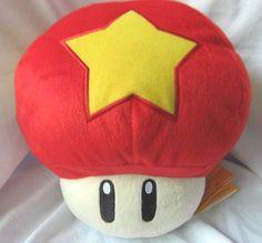 Super Mario Bros Toad Star Mushroom Plush doll MLPL5580