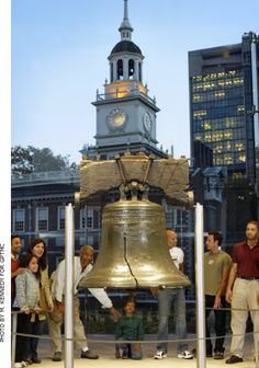The Liberty Bell... what a gorgeous symbol of American Freedom and all that our Founding Fathers risked their life to Protect and Defend...