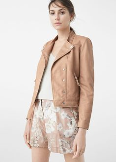 Leather jacket - Jackets for Woman   MANGO Slovakia