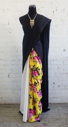 Bored In London 1987 Silk Sari