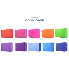 7 Colors Pilates EVA Yoga Block Brick Sports Exercise Gym Foam Workout Stretching Aid Body Shaping Health Training