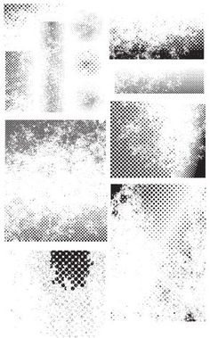 Free Vectors - 28 Halftone Vectors (Clean & Grunge Versions) | Think Design