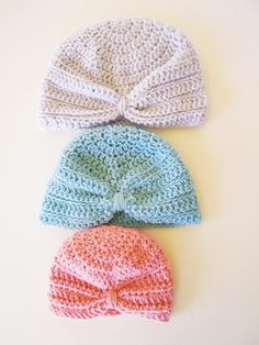 My Baby Turban Hat Pattern is the perfect quick and easy project to make for the precious little people who come into your life. The pattern includes instructions to fit from preemie to 18 months, and you only need a very small quantity of light worsted (double knitting/8 ply) yarn to complete the hat, so it makes for a great stash-buster project.My patterns are written in plain English using standard US terms, which makes them easy to follow whether you are a newbie crocheter or you hav...