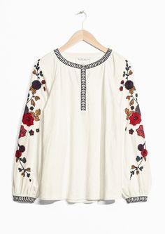 & Other Stories image 1 of Embroidery Blouse  in Off white
