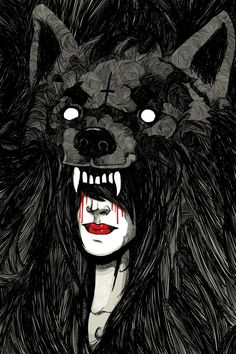 of wolf and man by Kraken , via Behance