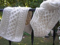 Aran Cashmere Scarf pattern by Beth Walker-O'Brien_Simple Knitting Knitting Patterns Free, Knit Patterns, Free Knitting, Knitting Ideas, Scarf Design, Knitted Shawls, Cashmere Scarf, Knit Crochet, Ravelry