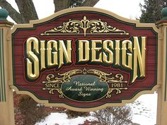Dimensional Signs are generally made of either sandblasted redwood or sandblasted HDU Board (High Density Urethane).