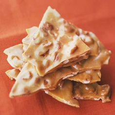 Peanut Brittle--my absolute fav. A great holiday dessert. I have been known to eat a whole box. Don't tell!