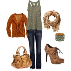 lovin this! the mustard yellow cardi, scarf and 'oh so fab' shoes!