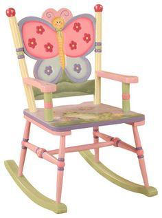 Teamson Kids Magic Garden Hand Painted Kids Rocking Chair ...