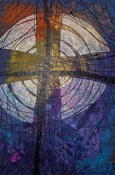 Church Banners Designs, Church Design, Catholic Art, Religious Art, Worship Images, Holy Art, Arte Van Gogh, Cross Quilt, Cross Paintings