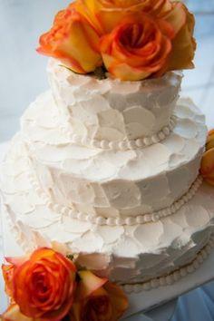 Rustic Orange Wedding Cake