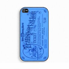 Vintage Disney World Ticket  Iphone Case 4 & 4s, blue, disneyland ticket. $14.00, via Etsy.