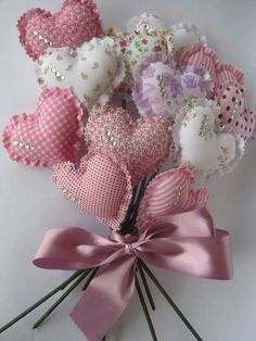 You are in the right place about DIY Fabric Flowers decor Here we offer you the most beautiful pictures about the simple DIY Fabric Flowers you are looking for. When you examine the part of the pictur Valentines Day Decorations, Valentine Day Crafts, Be My Valentine, Holiday Crafts, Fabric Hearts, Fabric Flowers, Crocheted Flowers, Crafts To Make, Diy Crafts