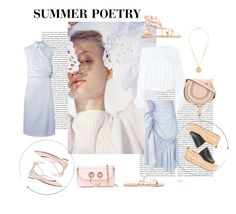 """""""Summer Poetry"""" by tessabit ❤ liked on Polyvore featuring Oris, Chloé, J.W. Anderson, Ancient Greek Sandals, Aquazzura and Givenchy"""