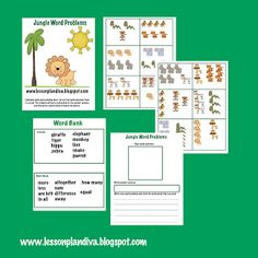 Here's a set of materials for students to write their own problems. Students pull a card, write the number sentence, then write a word problem to match the picture. Includes a word bank to help them write their word problems. Fun Classroom Activities, Preschool Printables, Math Classroom, Kindergarten Math, Classroom Ideas, Maths, Future Classroom, Preschool Ideas, Summer Activities