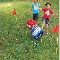 Set up pool noodles for a game of kickball croquet. | 51 Budget Backyard DIYs That Are Borderline Genius