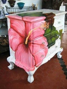Decoupaged chest of drawers - beautiful!
