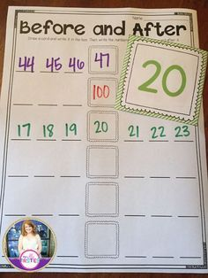 This looks like a great activity to help my daughter with her grade 1 Number Sense Activities