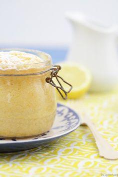 Zitronenkuchen im Glas mit Zitronensauce - Tulpentag. Der Blog