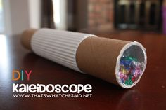 DIY Kaleidoscope! Now this would be a cool thing to do in the holidays!