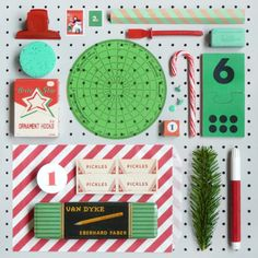 Green, red, white. Happy Holidays, Christmas Holidays, Christmas Crafts, Merry Christmas, Christmas Palette, Type Setting, All Things Christmas, Pretty Cool, Paper Goods