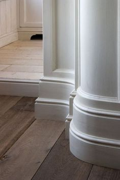 Two tiered base board molding Moulding And Millwork, Base Moulding, Wood Molding, Crown Molding, Decorative Mouldings, Baseboard Molding, Wainscoting, Interior Trim, Interior Design